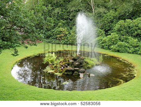 Fountain and Garden Pond.