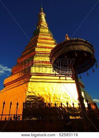Pagoda of Wat Phrathat Chohae, Prae, Thailand