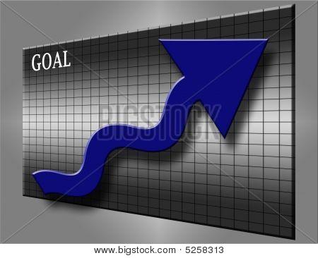 Goal And Blue Arrow