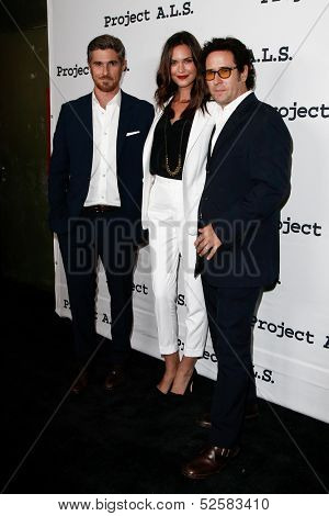 NEW YORK- OCT 17: Actors Dave Annable, Odette Annable & Rob Morrow attend the Project A.L.S. 15th Anniversary benefit at Roseland Ballroom on October 17, 2013 in New York City.