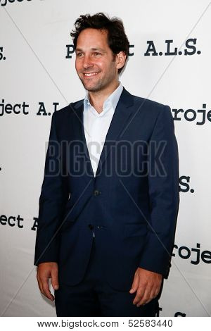 NEW YORK- OCT 17: Actor Paul Rudd attends the Project A.L.S. 15th Anniversary benefit at Roseland Ballroom on October 17, 2013 in New York City.