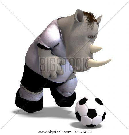 Rhino Plays Soccer / Football