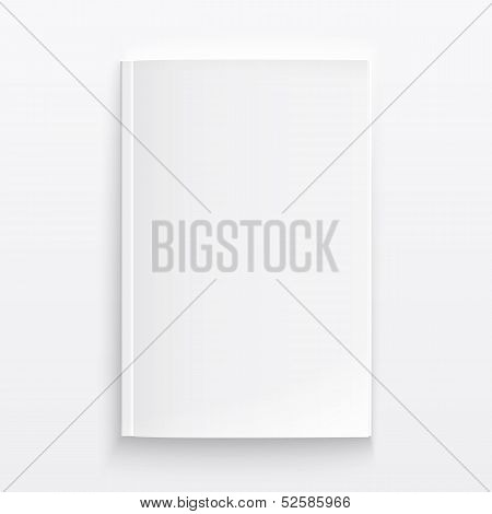 Blank magazine template with soft shadows.