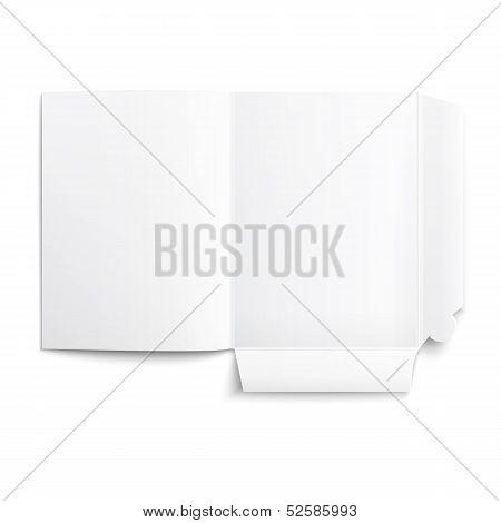 White empty unfolded folder.
