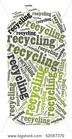 Tag Or Word Cloud Recycling Related In Shape Of Metal Can