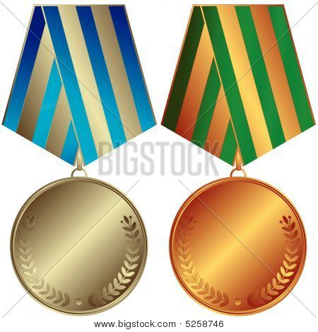 Silvery And Bronze Medals