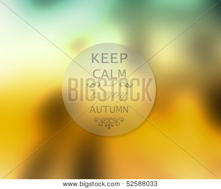 Abstract Autumn Or Fall Concept Of Badge With Inscription