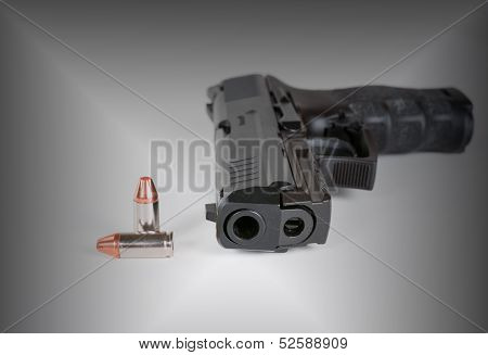 Handgun and bullets