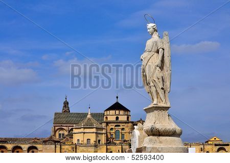 San Rafael Archangel Statue at Andalusia, Spain