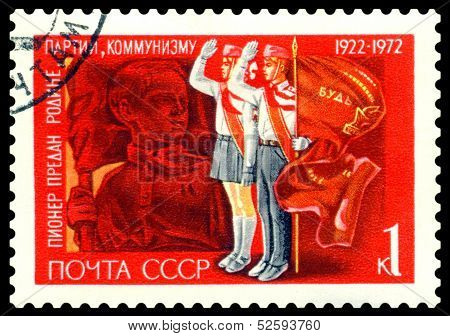 Vintage Postage Stamp. Pavlik Morozov.