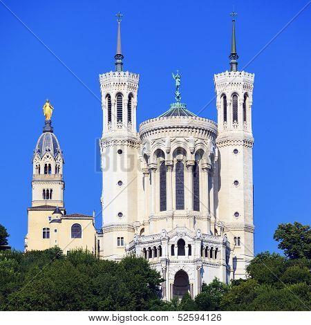 Famous Basilica Of Notre Dame De Fourviere