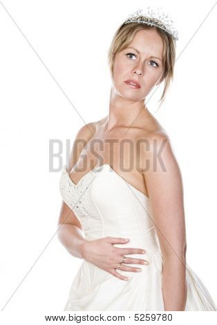 Shot Of An Attractive Blonde Bride