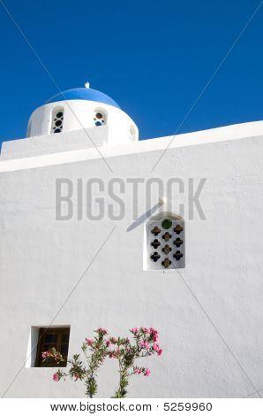 Blue Dome Cyclades Greek Island Church