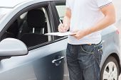 stock photo of rental agreement  - transportation and ownership concept  - JPG