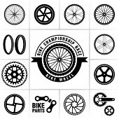 stock photo of mountain chain  - Bike wheels - JPG