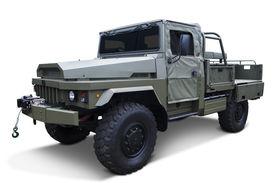 stock photo of panzer  - Vintage military vehicle isolated on white background - JPG