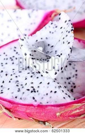 Dragon Fruit With Spoon
