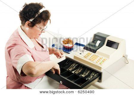 Cashier Makes Change
