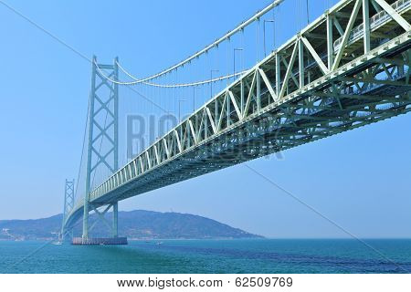 Akashi Kaikyo bridge in Kobe