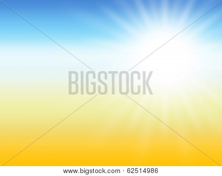 Sun ray Summer Desert Background