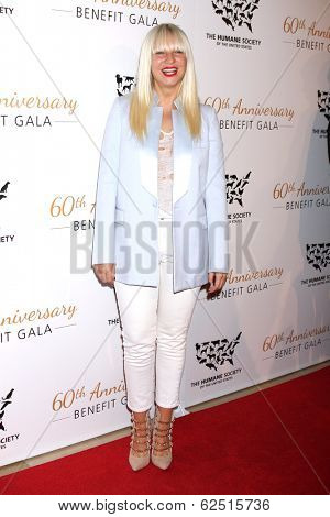 LOS ANGELES - MAR 29:  Sia Furler at the Humane Society Of The United States 60th Anniversary Gala at Beverly Hilton Hotel on March 29, 2014 in Beverly Hills, CA