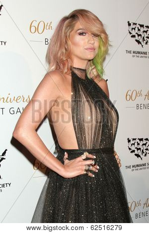 LOS ANGELES - MAR 29:  Kesha, aka Kesha Rose Sebert at the Humane Society Of The United States 60th Anniversary Gala at Beverly Hilton Hotel on March 29, 2014 in Beverly Hills, CA