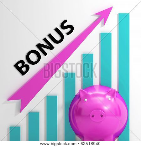 Bonus Graph Shows Incentives Rewards And Premiums