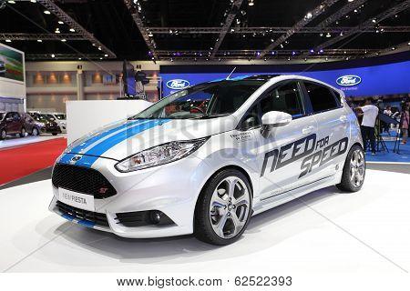 Nonthaburi - March 25: Ford New Fiesta Car On Display At The 35Th Bangkok International Motor Show O