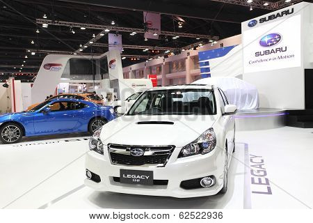 Bangkok - March 25 : Subaru Legacy 2.5 Gtcar On Display At The 35Th Bangkok International Motor Show