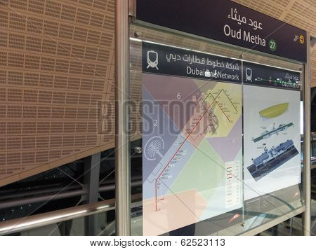 Oud Metha Metro Station in Dubai, UAE