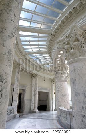 Marble Roman Columns at Boise Idaho Capitol Building