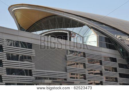 Dubai Metro train network in the UAE