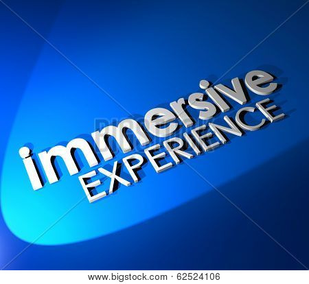 Immersive Experience 3d Word Background Total Involvement