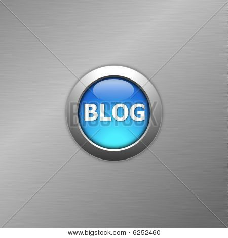 Blue Blog Button