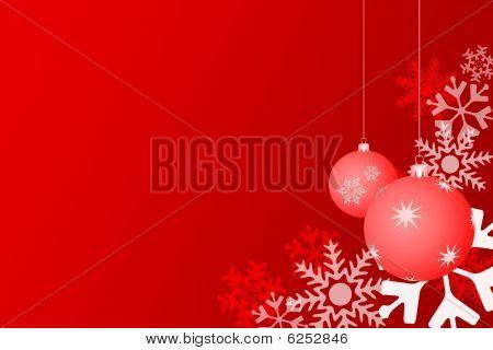 Snowflake Christmas With Balls