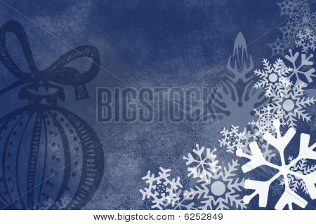 Snowflake Christmas Abstract Background