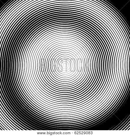 Design Monochrome Spiral Movement Illusion Background