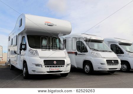 White RVs In A Row