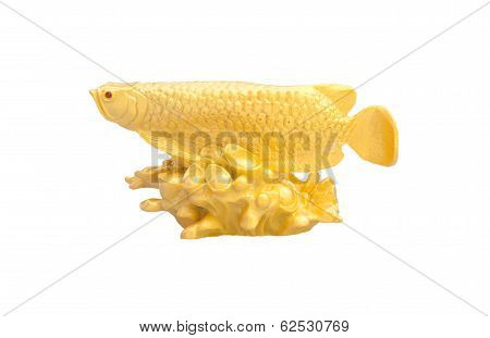 Golden fish used as a Feng Shui item