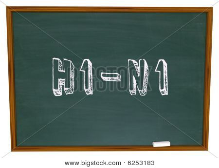 H1N1 - Words On Chalkboard