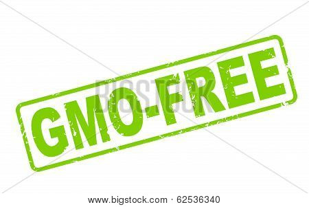 Stamp Gmo-free With Green Text On White