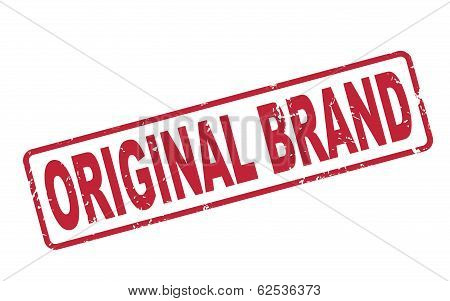 Stamp Original Brand With Red Text On White