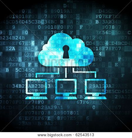 Cloud Network on digital background