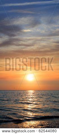 Sunset. Seascape.