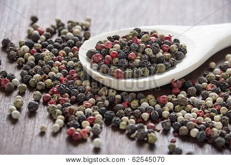 Pepper In Wooden Spoon