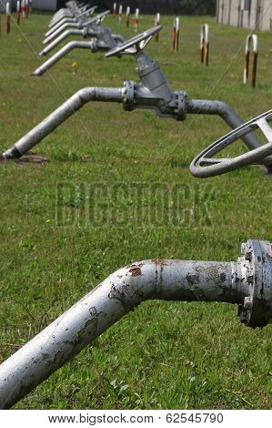 Valves To Open And Close The Gas Flow To The Production Of Energy