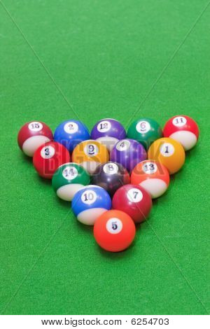 Triangle Of Pool Balls