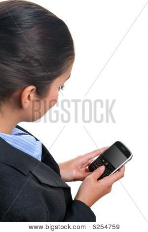 Businesswoman Using A Mobile Device