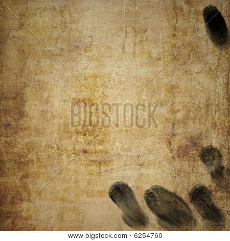Grunge Background With Oily Fingerprints