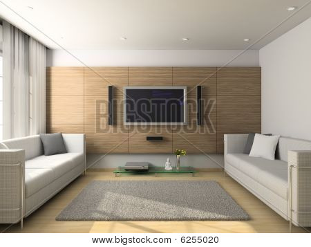 Modern Interior Of Living-room